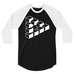 sheldon dreieck big bang theory triforce illusion 3d nerd fun usa 3/4 Sleeve Shirt | Artistshot