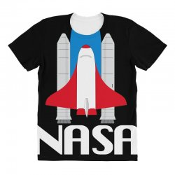 Custom Nasa Ladies Fitted T-shirt By Omer Acar - Artistshot 14358e5f2982