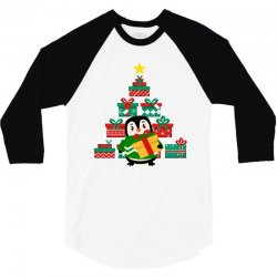 christmas Penguin 3/4 Sleeve Shirt | Artistshot
