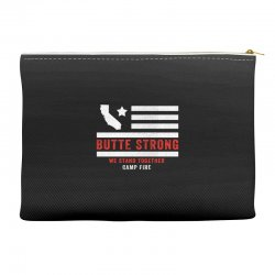 butte strong camp fire Accessory Pouches | Artistshot