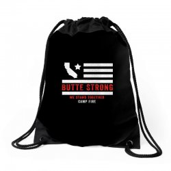 butte strong camp fire Drawstring Bags | Artistshot