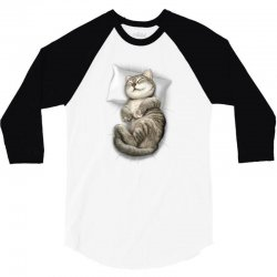 CAT SLEEPING 3/4 Sleeve Shirt | Artistshot