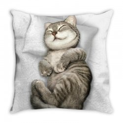 CAT SLEEPING Throw Pillow | Artistshot