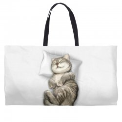 CAT SLEEPING Weekender Totes | Artistshot