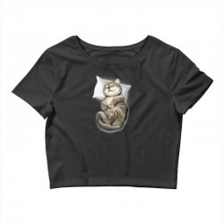 CAT SLEEPING Crop Top | Artistshot
