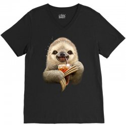sloth & soft drink V-Neck Tee | Artistshot
