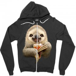 sloth & soft drink Zipper Hoodie | Artistshot