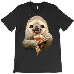 sloth & soft drink T-Shirt | Artistshot