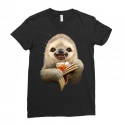 sloth & soft drink Ladies Fitted T-Shirt | Artistshot