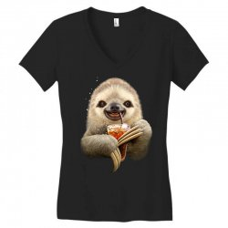 sloth & soft drink Women's V-Neck T-Shirt | Artistshot