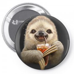 sloth & soft drink Pin-back button | Artistshot