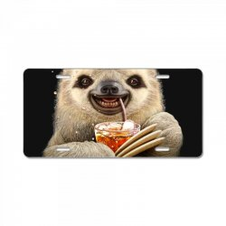 sloth & soft drink License Plate | Artistshot