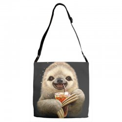 sloth & soft drink Adjustable Strap Totes | Artistshot