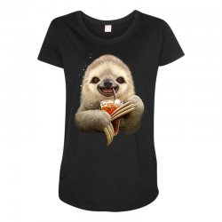 sloth & soft drink Maternity Scoop Neck T-shirt | Artistshot