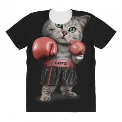 boxing cat All Over Women's T-shirt | Artistshot