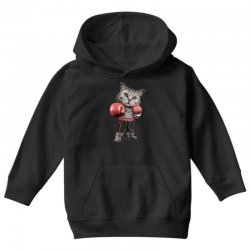 boxing cat Youth Hoodie | Artistshot