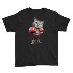 boxing cat Youth Tee | Artistshot
