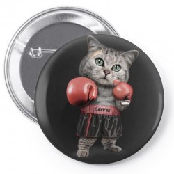 boxing cat Pin-back button | Artistshot