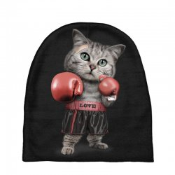 boxing cat Baby Beanies | Artistshot