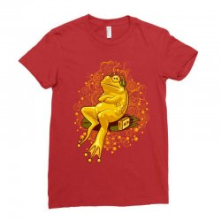 froggie relax mode Ladies Fitted T-Shirt | Artistshot