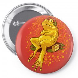 froggie relax mode Pin-back button | Artistshot