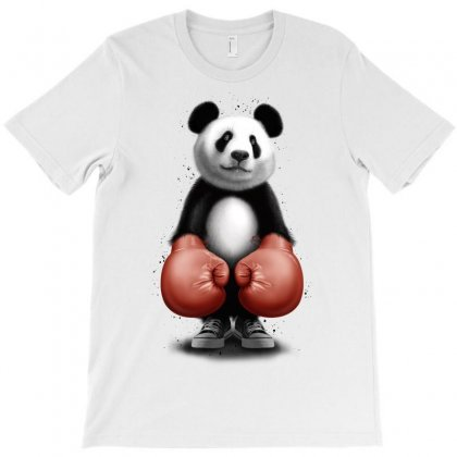 Panda Boxer T-shirt Designed By Adam Jumali Lawless