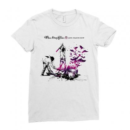 Three Days Grace Ladies Fitted T-shirt Designed By Allentees