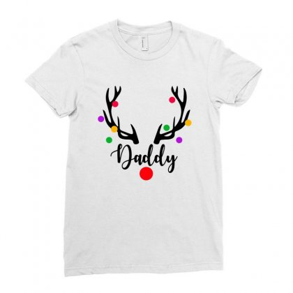 Daddy Reindeer For Light Ladies Fitted T-shirt Designed By Sengul