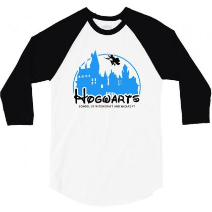 Hogwarts School Of Witchcraft And Wizardry For Light 3/4 Sleeve Shirt Designed By Akin
