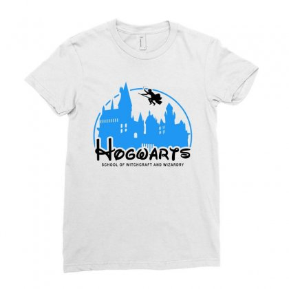 Hogwarts School Of Witchcraft And Wizardry For Light Ladies Fitted T-shirt Designed By Akin