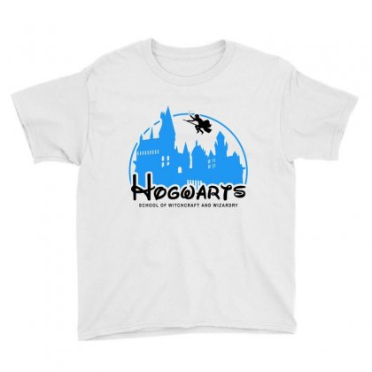 Hogwarts School Of Witchcraft And Wizardry For Light Youth Tee Designed By Akin