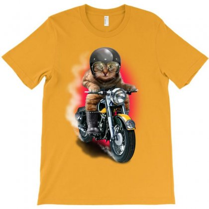 Cat Riding Motorcycle T-shirt Designed By Adam Jumali Lawless