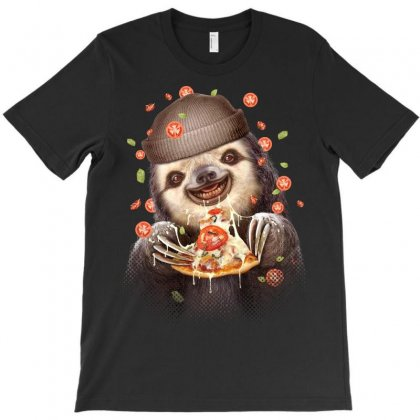 Sloth Loves Pizza T-shirt Designed By Adam Jumali Lawless