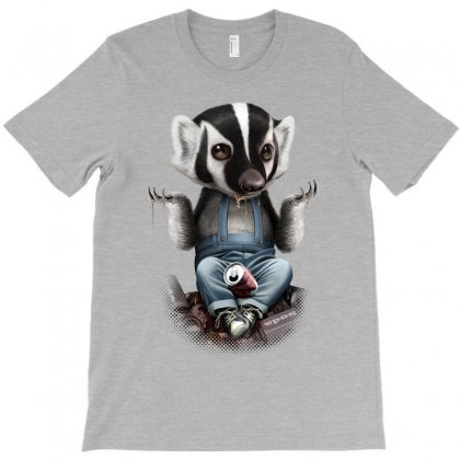 Badger Takes All Drinks T-shirt Designed By Adam Jumali Lawless
