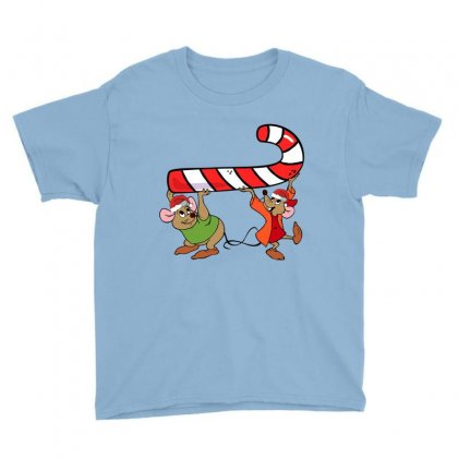 Jaq And Gus Christmas Sugar Youth Tee Designed By Sengul