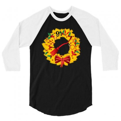 Harry Potter Christmas 3/4 Sleeve Shirt Designed By Nurbetulk
