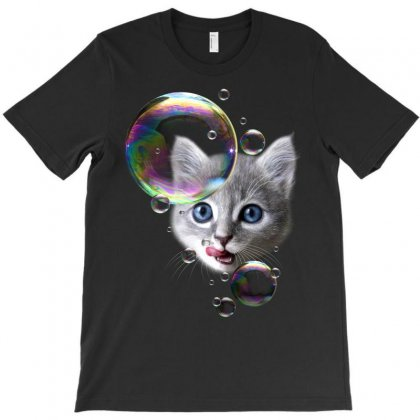 Cat The Bubblemaker T-shirt Designed By Adam Jumali Lawless