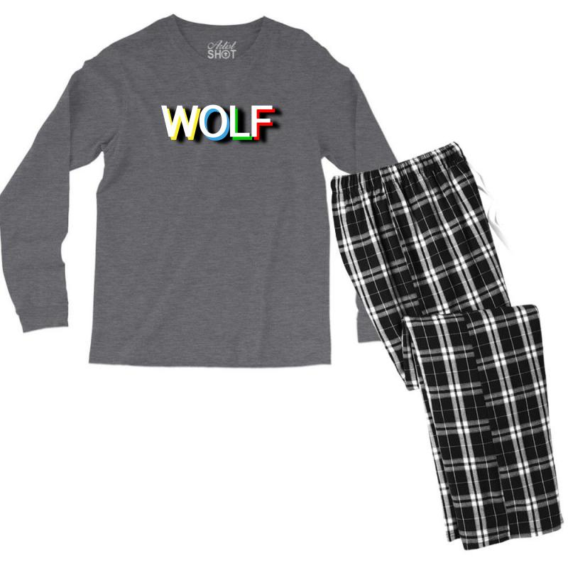 Wolf Men's Long Sleeve Pajama Set | Artistshot