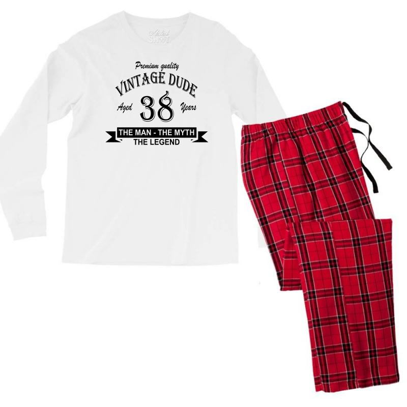 Aged 38 Years Men's Long Sleeve Pajama Set | Artistshot