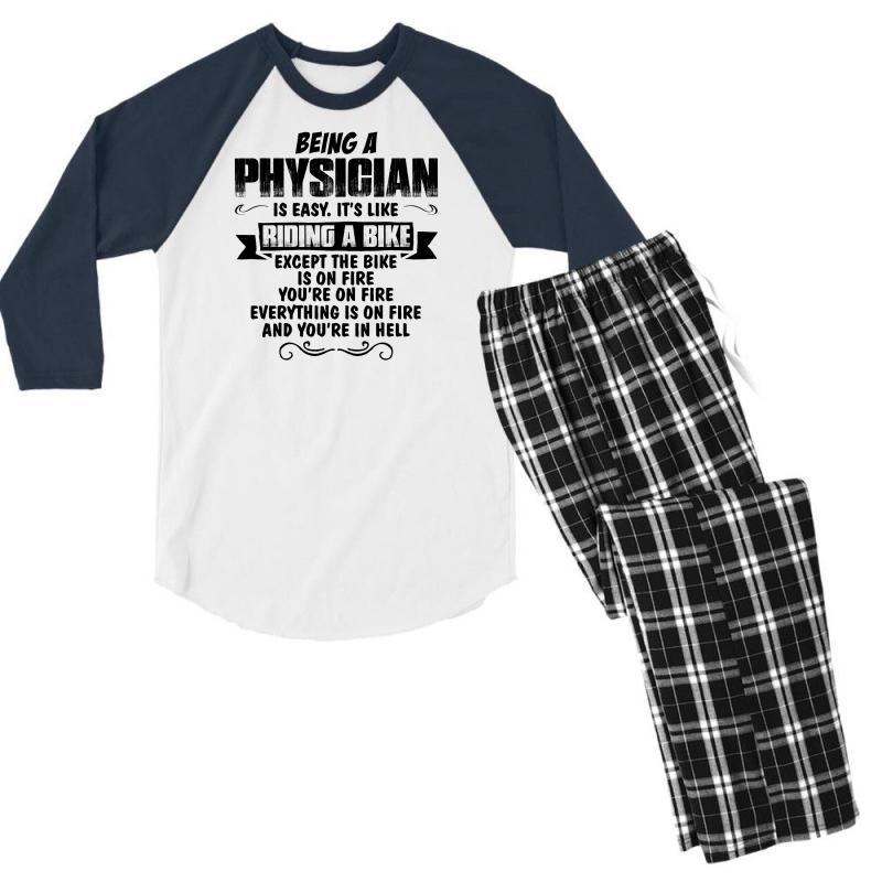 Being A Physician Copy Men's 3/4 Sleeve Pajama Set | Artistshot