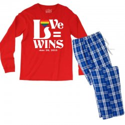 Love Wins Men's Long Sleeve Pajama Set | Artistshot