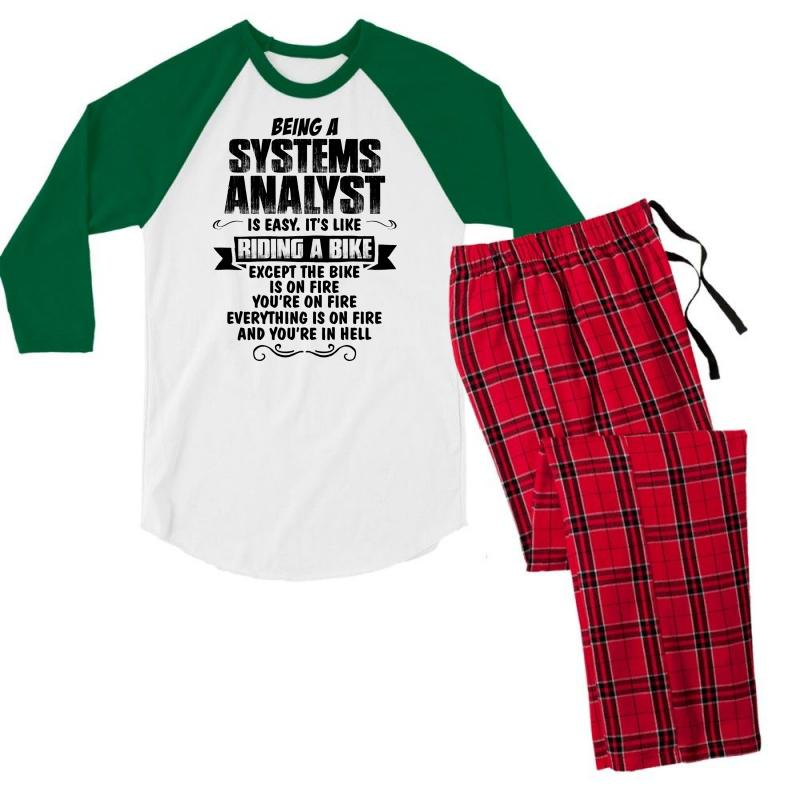 Being A Systems Analyst Copy Men's 3/4 Sleeve Pajama Set | Artistshot