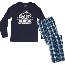 This Guy Loves Camping With His Family Men's Long Sleeve Pajama Set | Artistshot