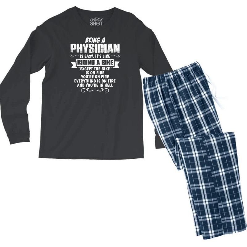 Being A Physician Men's Long Sleeve Pajama Set | Artistshot