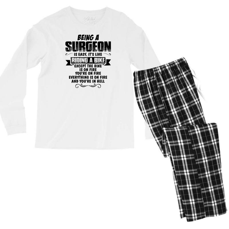 Being A Surgeon Copy Men's Long Sleeve Pajama Set | Artistshot