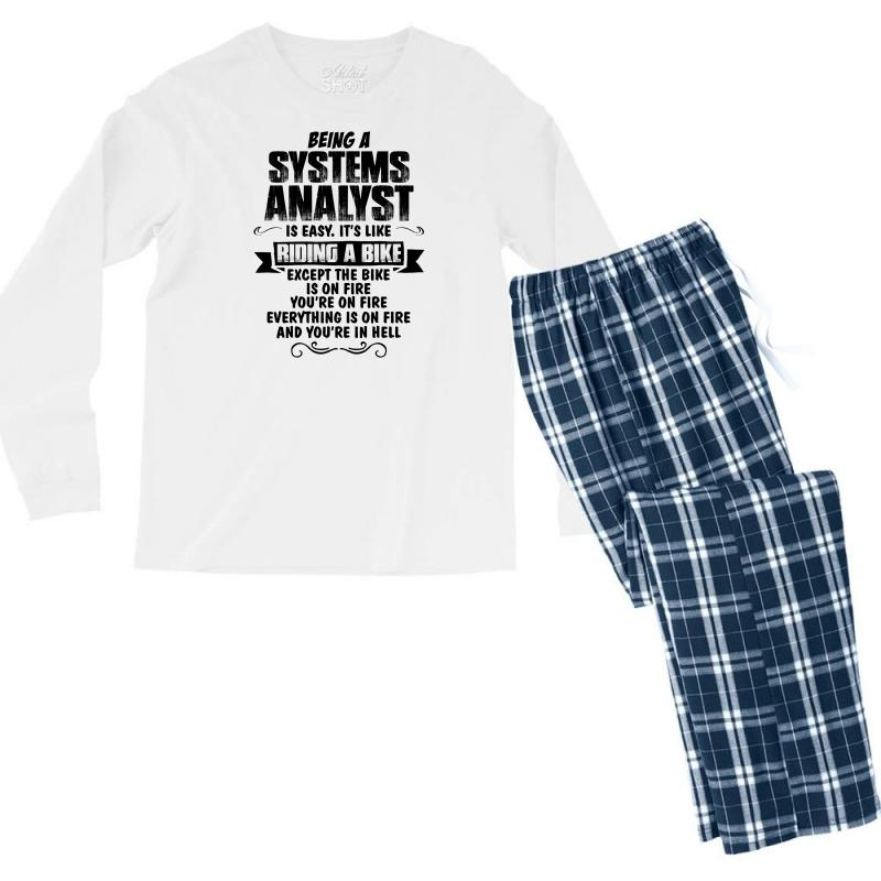 Being A Systems Analyst Copy Men's Long Sleeve Pajama Set | Artistshot
