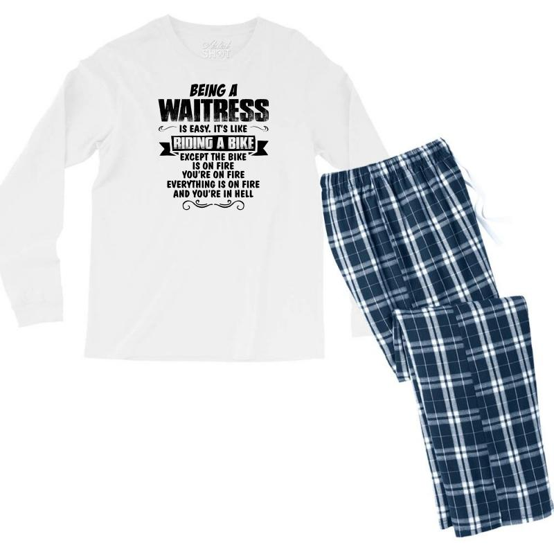 Being A Waitress Copy Men's Long Sleeve Pajama Set | Artistshot