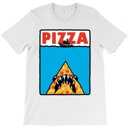 Pizza Jaws Parody T-shirt Designed By Akin