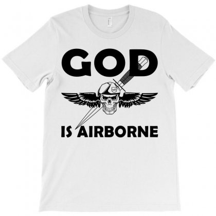 Royal Marines God Is Airborne T-shirt Designed By Shoptee