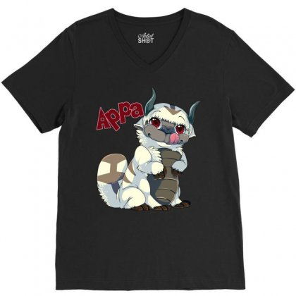 Appa Avatar V-neck Tee Designed By Shoptee